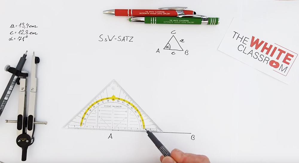 Konstruktion nach dem SSW - Satz | thewhiteclassroom.at